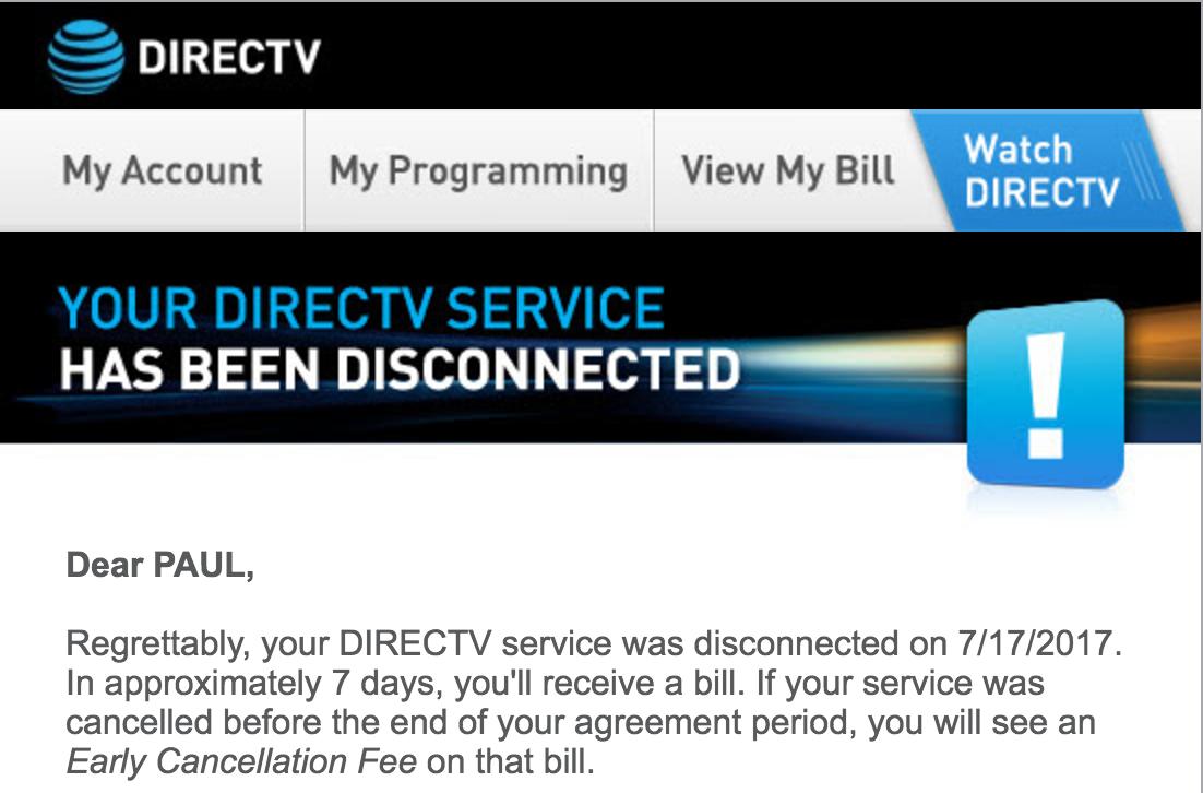 directv cancellation